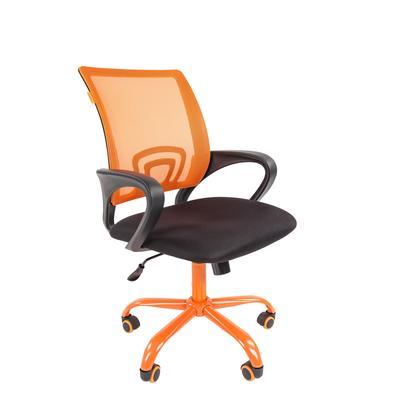 Кресло офисное Chairman 696 CMet черное/оранжевое (ткань/сетка/металл)