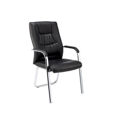 Уценка. Конференц-кресло Easy Chair 807 VPU черное (искусственная кожа/металл хромированный). уц_меб