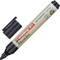 Маркер перманентный Edding Eco черный (толщина линии 1,5-3 мм) круглый наконечник
