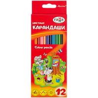 Карандаши цветные Гамма Мультики 12 цветов трехгранные
