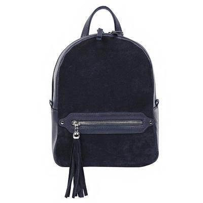 Рюкзак женский Fabretti из натуральной кожи синего цвета (984437Т-8)