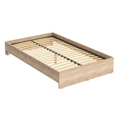 Кровать Kann (дуб сонома, 2040х1240х300 мм)