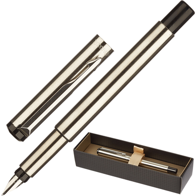 Ручка перьевая Parker Vector синяя серебристый корпус (артикул производителя S0723480)