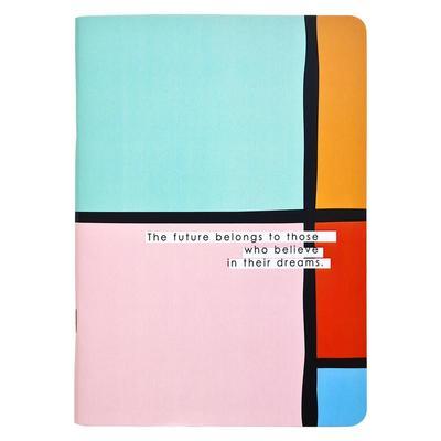 Бизнес-тетрадь Be Smart Abstract A5 48 листов разноцветная в клетку на скрепке (150x210 мм)