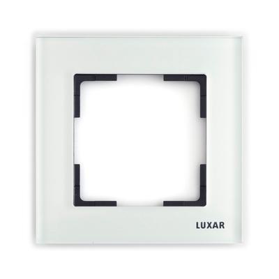 Рамка LUXAR Art на 1 пост белое стекло (15.901.20)