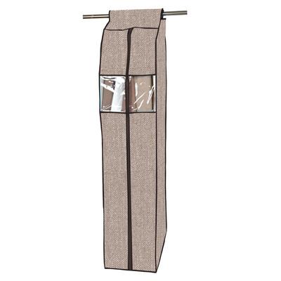 Чехол для одежды коричневый 30х57х108см (5744)