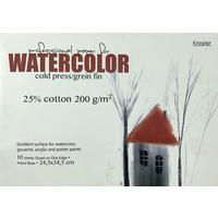 Альбом для акварели с добавлением хлопка Kroyter Watercolor 245х345 мм 10 листов