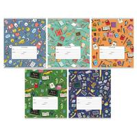 Тетрадь школьная Проф-пресс Школьный орнамент-1 А5 12 листов в линейку (обложка в ассортименте)