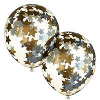 Набор шаров с наполнением Пати Бум звезды 30 см (2 штуки в упаковке)