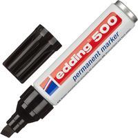 Маркер перманентный Edding E-500/1 черный (толщина линии 2-7 мм) скошенный наконечник