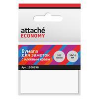 Стикеры Attache Economy 38x51 мм белая (1 блок, 100 листов)