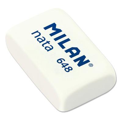 Ластик Milan nata 648 пластиковый белый 31х19х9 мм