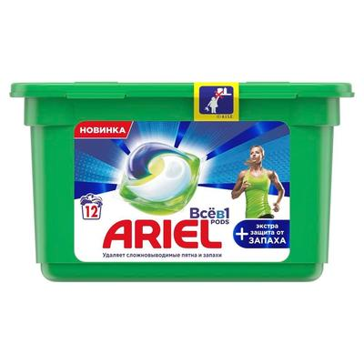 Капсулы для стирки Ariel Pods Экстра защита от запаха 302.4 г (12 капсул  в упаковке)