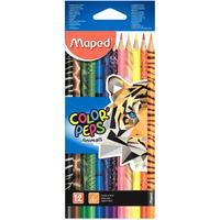 Карандаши цветные Maped Color'peps Animals 12 цветов трехгранные