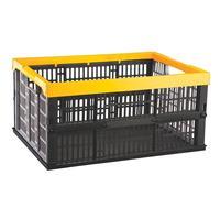 Ящик (лоток) складной универсальный полипропиленовый 480х350х230 мм черный/желтый