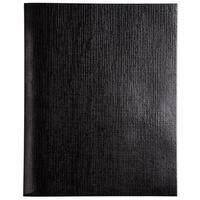Бизнес-тетрадь Hatber Melallic A5 96 листов черная в клетку на скрепках (148x210 мм)
