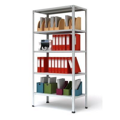 Уценка_мебель Стеллаж металлический Cobalt МС-235 (5 полок, 1000x300x2000 мм)