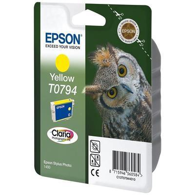 Картридж струйный Epson T0794 C13T07944010 желтый оригинальный повышенной емкости