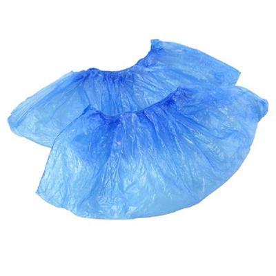 Бахилы одноразовые полиэтиленовые гладкие Эконом АРТ 18 1,7 г голубые (50 пар в упаковке)