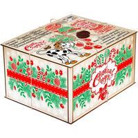 Новогодний сладкий подарок Посылка от Деда Мороза 1000 г (с пазлом)
