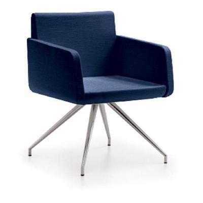 Кресло Sofiax темно-синее (искусственная кожа)
