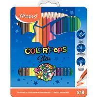 Карандаши цветные Maped Color'peps 18 цветов трехгранные (металлическая упаковка)