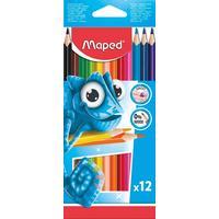 Карандаши цветные Maped Pulse 12 цветов трехгранные