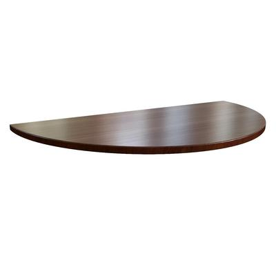 Сектор для стола переговоров Sorbonne 24713 (темный орех, 180 градусов, 1000x500x45 мм)