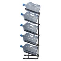 Стеллаж для бутилированной воды Бридж-5 на 5 тар по 19л черный