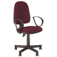 Кресло офисное Jupiter бордовое (ткань, пластик)