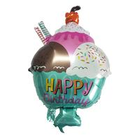 Шар надувной из фольги Пати Бум Happy Birthday Десерт 45 см