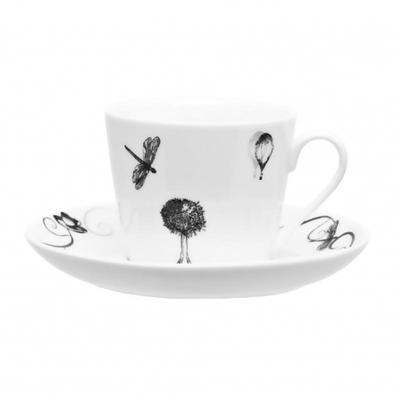 Сервиз чайный Attribute Once Upon A Time 220 мл белый на 6 персон (артикул производителя DM9274)