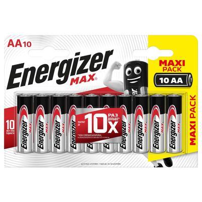 Батарейки Energizer Max пальчиковые АА E91 (10 штук в упаковке)