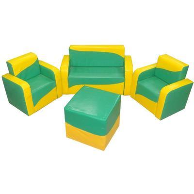 Комплект детской мягкой мебели Кристина (диван двухместный, 2 кресла, пуф)