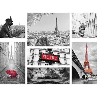 Картина мультимодульная на холсте Ecoramka Париж (1100x800x20 мм)
