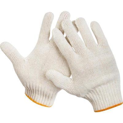 Перчатки рабочие трикотажные без ПВХ 4 нити 7 класс (10 пар в упаковке)