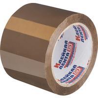 Клейкая лента упаковочная коричневая 75 мм x 66 м толщина 47 мкм