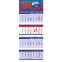 Календарь настенный четырехблочный настенный 2021 год Символика (300x750 мм)