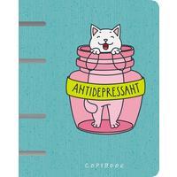 Тетрадь на кольцах Канц-Эксмо Пушистый антидепрессант А5 120 листов в клетку