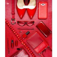 Пакет подарочный пластиковый Деловые в красном (45х38 см, 50 штук в упаковке)