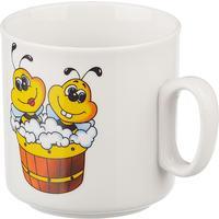 Кружка детская Добруш Пчелы фарфоровая белая с рисунком 200 мл (артикул производителя 2С0488Ф34)