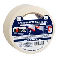Клейкая лента малярная Unibob 48мм х 40м белая (бумажная)