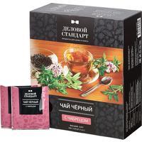 Чай Деловой стандарт черный с чабрецом 100 пакетиков