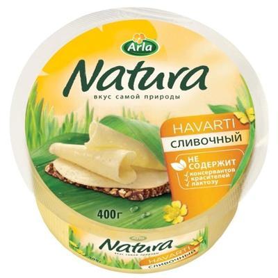 Сыр Arla Natura сливочный 45% 400 г