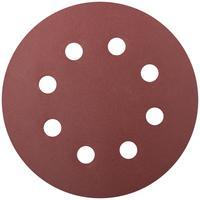 Круг шлифовальный с отверстиями 5 шт. (липучка 125 мм, Р240) FIT (39669)