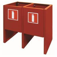 Подставка для двух огнетушителей Престиж-К металлическая