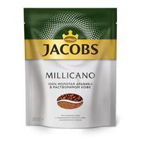 Кофе растворимый Jacobs Millicano 200 г (пакет)