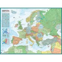 Настенная карта Политическая карта Европы 1:4,3 млн