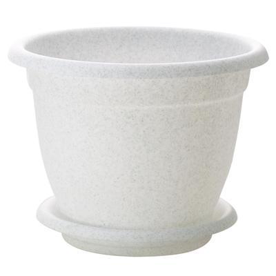 Горшок для цветов InGreen Борнео №8 с подставкой белый 25.8 л