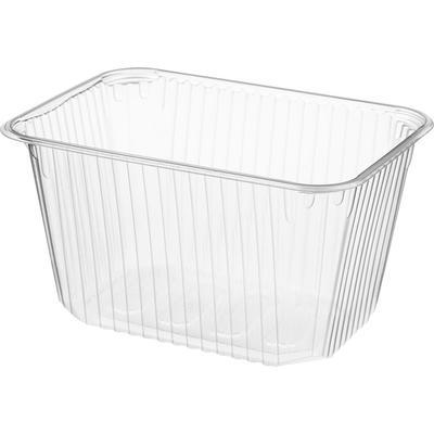 Одноразовый пластиковый контейнер Юпласт для вторых блюд 1500 мл прозрачный (500 штук в упаковке)